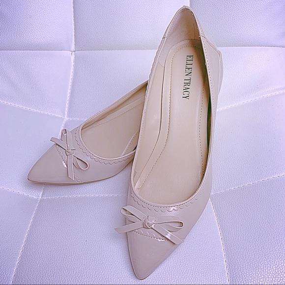a3220cd9d254 Ellen Tracy Shoes - ELLEN TRACY Taupe Tessa Kitten Pumps